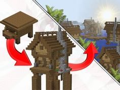 How to transform a witch hut into a village - video by JERACRAFT