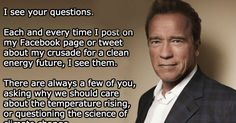 Arnold Schwarzenegger Just Blew Everyone Away With His FB Post on Climate Change