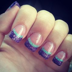 My colorful glitter solor nails