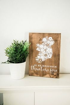 Irish wood sign - Níl aon tinteán mar do thinteán féin - There's no place like home - Ireland - Wildflowers - wood - sign - Irish - screen print - home - wall - decor - floral - typography - Dandelion Designs, Wood Plaques, Home Wall Decor, Wildflowers, Wood Signs, Hand Lettering, Screen Printing, Ireland, Irish