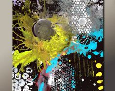 ABSTRACT Canvas Art Painting Original Custom Made to by wostudios
