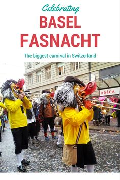 Basler Fasnacht is the biggest carnival in Switzerland, celebrated in Basel every year in February/March. You got to be careful if you don't want to be attacked with confetti- just like what happened to me! #Carnival #Fasnacht