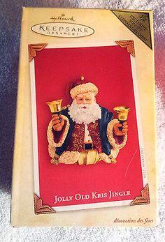 Jolly Old Kris Jingle (2004) Hallmark VIP Gift Keepsake Ornament - Unused #JollyOldKrisJingle #HallmarkVIP