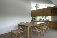 無垢ダイニングテーブル Type C / 無垢ナラ材 W2,400×D850×H700(オーダー製作) 神奈川県鎌倉市 I邸