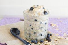 Blueberry Banana Overnight Oats #dairyfree #glutenfree