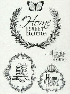 Ricepaper-Decoupage-paper-Scrapbooking-Sheets-Vintage-Labels-Sweet-Home-Black