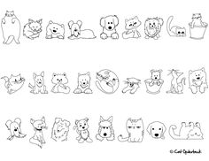 cat and dog drawings - Google Search