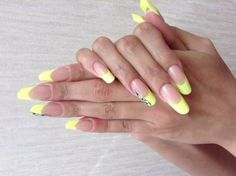 Nail Art French Galerie Gelb