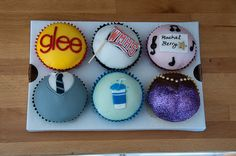 Though I'm not sure what the bottom right is, I love these! Especially Kurt and Rachel's cupcakes!