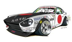 "car illustrationoriginal cartoon ""mame mame rock""  /  (c)..."