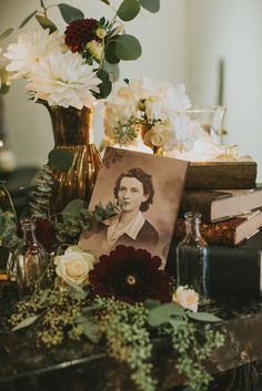 Moody + romantic decor from this vintage inspired wedding in Vancouver  | Image by Sara Rogers Photography