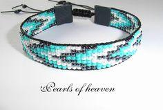 Gewebtes Armband bead loom mit Miyuki Rocailles