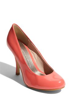 Infuse a pop of color with a bright coral pump!