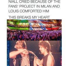 SO CUTE NIALL IS SO SENSITIVE AND LOUIS IS SO SWEET!!!!!