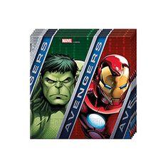 Avengers & Yenilmezler Parti Peçete, doğum günü süslemeleri