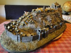 Edoras diorama made by a Spanish fan of LOTR. And it isn't the only one!