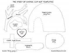 The Easter Story - FREE PRINTABLE TEMPLATES