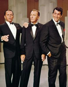 I think if Gabe could channel Dean Martin he would. Frank Sinatra, Bing Crosby, and Dean Martin. Hollywood Stars, Hollywood Glamour, Classic Hollywood, Old Hollywood, Dean Martin, Joey Bishop, Bing Crosby, Franck Sinatra, Don Corleone