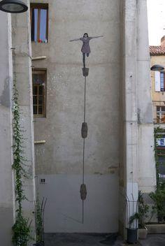 Hyuro New Street Art For Bienal de Arte de Perpignan 2013 - Perpignan, France