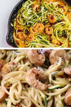 Delicious Dinner Recipes, Easy Healthy Recipes, Healthy Eats, Yummy Food, Sun Dried Tomato Sauce, Porch Designs, Zucchini Noodles, Shrimp Recipes, Recipe Collection
