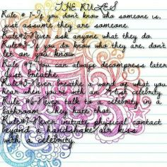 the rules from IN BLOOM by Katie Delahanty