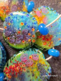 °° jasmin french °° 'the garden of adele' b. lampwork beads set sra on ebay.com<3<3<3