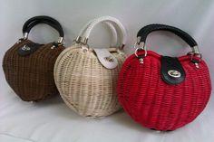 плетеные сумки - Поиск в Google Vintage Bags, Vintage Handbags, Creative Bag, Wicker Purse, O Bag, Embroidery Bags, Basket Bag, Crochet Handbags, Leather Projects