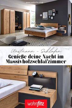 Der Geruch von der Natur lässt sie beruhigt und erholsam schlafen. Endecken Sie die Massivholzschlafzimmer von Wöstmann. Entryway, Cabinet, Storage, Furniture, Home Decor, Bed Frame, Reach In Closet, Timber Wood, Homes