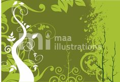 Free floral designed background Illustration
