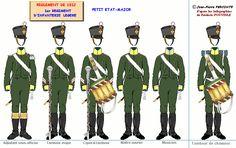 Fanteria leggera 1° Rgt. testa della colonna 1812