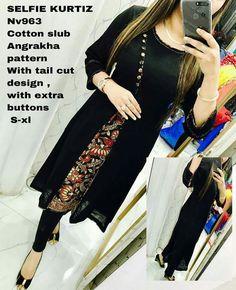 Ready made tops To place order WhatsApp 7995736811 Salwar Pattern, Kurti Patterns, Casual Dresses, Fashion Dresses, Churidar Designs, Indian Fashion, Womens Fashion, Indian Designer Wear, Indian Wear