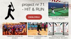 """Oddaj głos na nasz projekt """"HIT & RUN - Zagrajmy w baseball, softball i slowpitch""""– projekt nr 71. Link do głosowania: https://aktywny.dolnyslask.pl/budzet/karta-glosowania  Pozostału już tylko 5 dni głosowania!"""