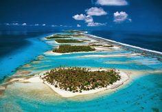 Atol Rangiroa - arquipélago de Tuamotu na Polinésia Francesa