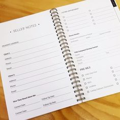 Real Estate Agent Notes - Keep Track of all your BUYER clients in this awesome notebook. Yes, we are all things digital, but we still write things down and how great to have a notebook for all the imp