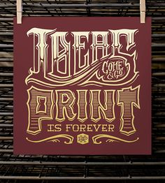 Print Is Forever Art Print by Half Hazard Press on Scoutmob