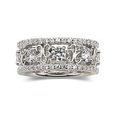 DiamonArt® Cubic Zirconia Scroll Fashion Ring - jcpenney