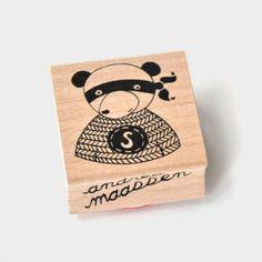 Super Panda Wooden Stamp by Andrea Maassen