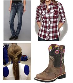So cute!got to try this hairstyle Cowgirl Outfits, Clothes Horse, Country Girls, Harem Pants, Hairstyle, My Style, Boots, Cute, Outfit Ideas