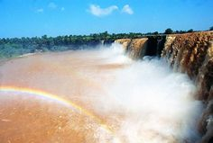 Last but not the least, Chitrakoot Waterfall. Flowing with a throwing rainbow....HMMM!