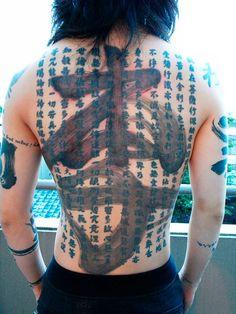 MIYAVI's back tattoo 'LEE' by Kotaro Sato