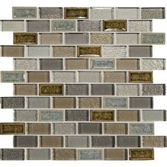 Daltile Crystal Ss Shire Lagoon 1 X 2 Brick Joint Mosaic T S Shower Accent Tile