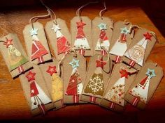 Handmade Christmas Gift Tags | Gift tag by Loobylou