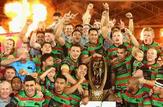 Its ours!!! 2014 NRL Grand Final South Sydney Rabbitohs Celebrate
