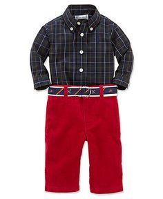 Ralph Lauren Baby Set, Baby Boys 2-Piece Shirt and Pants - Kids - Macy's