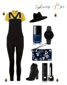 """""""Honey"""" by sanestyle ❤ liked on Polyvore featuring Dorothy Perkins, New Look, Yves Saint Laurent, Marc Jacobs, Chanel, CLUSE and Kate Spade"""