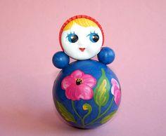 Vintage Roly Poly Toy Doll. Nevalyashka. Soviet by RarityFromAfar
