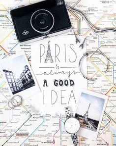 Paris flatlay