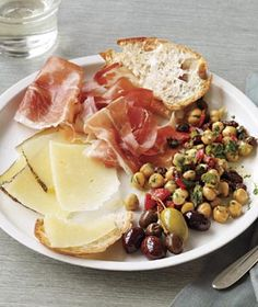 Tapas Plate With Marinated Chickpeas Recipe
