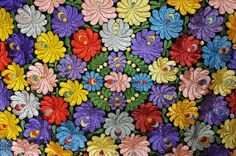 Hungarian silk embroidery  rare very large by BabaVintage on Etsy, $172.00