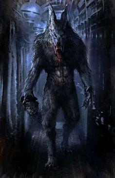 Devil, vampire and werewolf Dark Fantasy Art, Fantasy Kunst, Dark Art, Arte Horror, Horror Art, Werewolf Art, Vampires And Werewolves, Creatures Of The Night, Mythical Creatures